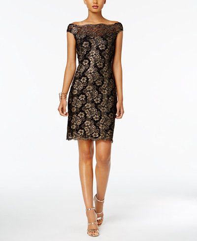 Connected Off-The-Shoulder Lace Dress