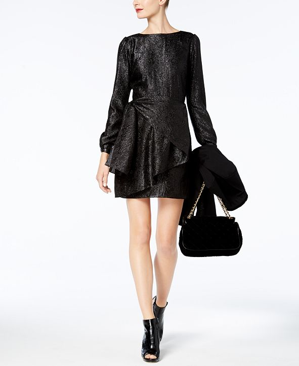 Michael Kors Metallic Wrap Dress