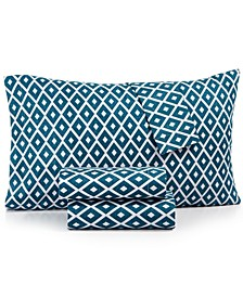 Printed Microfiber Twin 3-Pc Sheet Set, Created for Macy's