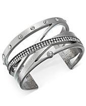 I.N.C. Pavé Crisscross Cuff Bracelet, Created for Macy's