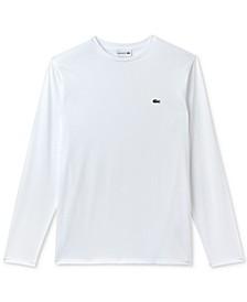 Long Sleeve Pima Jersey Crew Neck Tee Shirt