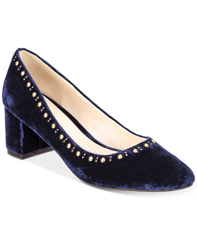 Cole Haan Women's Justine Velvet Studded Pumps