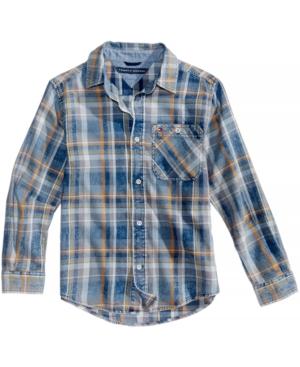 Tommy Hilfiger Chance Plaid Cotton Shirt Big Boys (820)