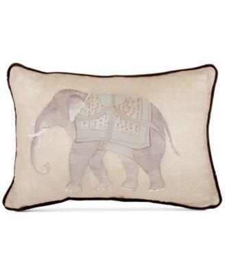 "Mapperton 128-Thread Count Elephant Print 12"" x 18"" Decorative Pillow"