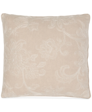 """Image of Sanderson Delphiniums Embroidery 128-Thread Count 20"""" x 20"""" Decorative Pillow Bedding"""