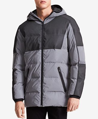 Calvin Klein Men S Reflective Hooded Puffer Jacket Coats Jackets