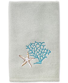 Beachcomber Cotton Embroidered Fingertip Towel