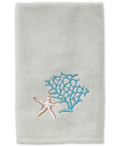 Avanti Beachcomber Cotton Embroidered Fingertip Towel