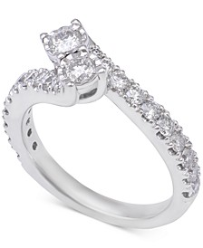 Diamond Two-Stone Engagement Ring (1-1/5 ct. t.w.) in 14k White Gold