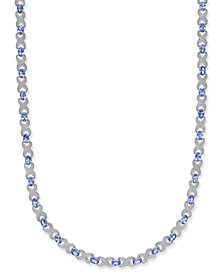 Tanzanite (12-1/2 ct. t.w.) & Diamond Accent Collar Necklace in Sterling Silver
