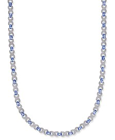 Tanzanite (12-1/2 ct. t.w.) & Diamond Accent Collar Necklace in Sterling Silver