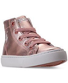Polo Ralph Lauren Toddler Girls' Slater Mid Casual Sneakers from Finish Line