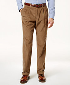 Lauren Ralph Lauren Men's Classic-Fit Corduroy Pleated, Cuffed-Hem Dress Pants