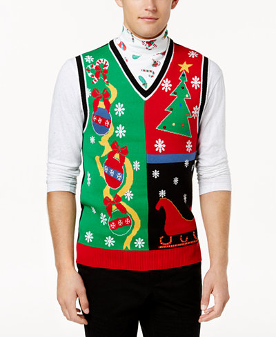American Rag Men's Ugly Holiday Sweater Vest, Created for Macy's ...