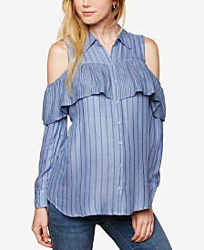 Motherhood Maternity Cold-Shoulder Blouse