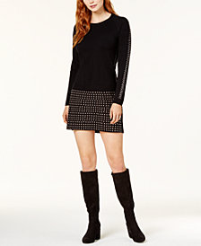 Bar III Studded Sweater & Mini Skirt, Created for Macy's