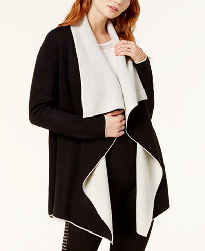 Bar III Reversible Draped Cardigan, Created for Macy's - Sweaters ...