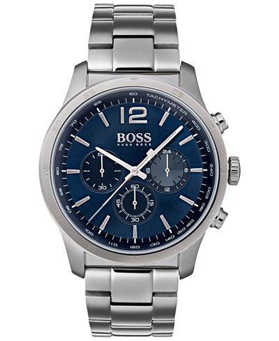 BOSS Hugo Boss Men's Chronograph Professional Stainless Steel Bracelet Watch 42mm