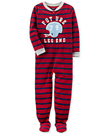 Carter's 1-Pc. Striped Future Legend Footed Pajamas, Little Boys & Big Boys