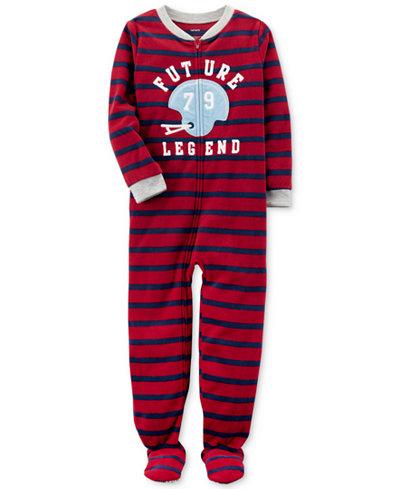 Carter's 1-Pc. Striped Future Legend Footed Pajamas, Little Boys & Big Boys