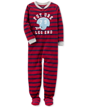 Carters 1Pc Striped Future Legend Footed Pajamas Little Boys (47)  Big Boys (820)