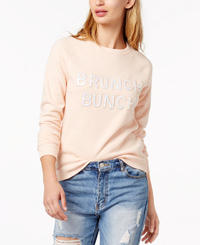 Bow & Drape Brunch Bunch Sequined Graphic Sweatshirt