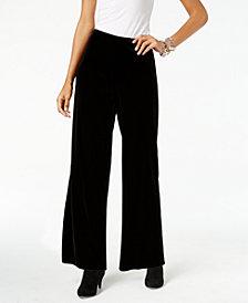 Alfani Petite Velvet Wide-Leg Pants, Created for Macy's