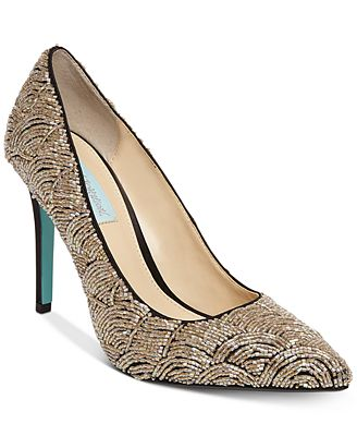Blue by Betsey Johnson Clair Evening Pumps