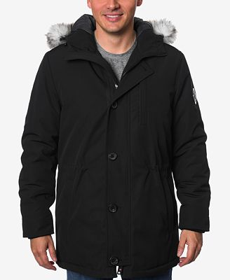 HFX Men's Faux-Fur-Trimmed Jacket - Coats & Jackets - Men - Macy's