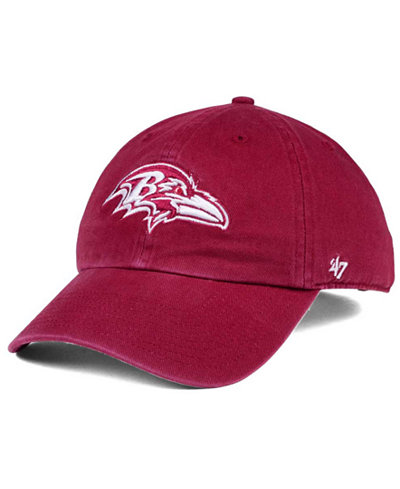 '47 Brand Baltimore Ravens Cardinal CLEAN UP Cap
