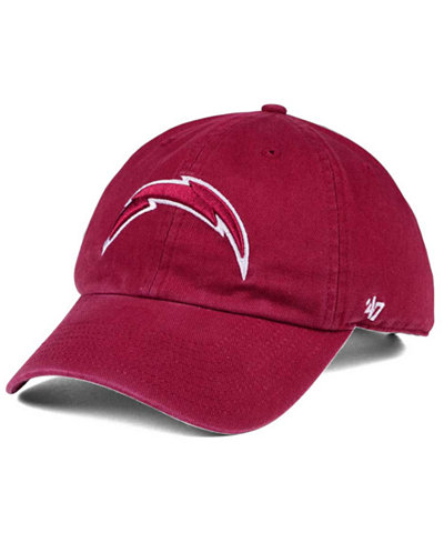 '47 Brand Los Angeles Chargers Cardinal CLEAN UP Cap