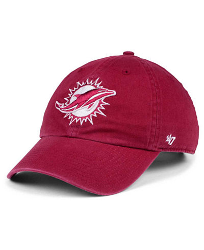 '47 Brand Miami Dolphins Cardinal CLEAN UP Cap