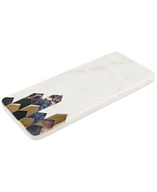 CLOSEOUT! Thirstystone Marble Serving Board with Inlaid Arrow Pattern