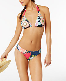 Trina Turk Royal Botanical Triangle Bikini Top & Bottoms