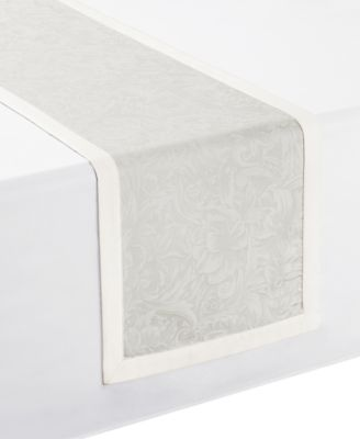 """Peony Taupe Table Runner 14"""" x 90"""""""