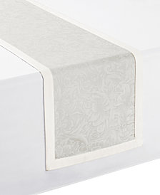 """Waterford Peony Taupe Table Runner 14"""" x 90"""""""