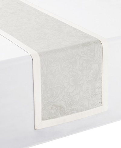 Waterford Peony Taupe Table Runner 14