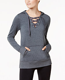Ideology Lace-Up Hoodie, Created for Macy's