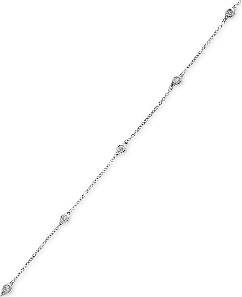 EFFY Collection Pavé Classica by EFFY® Diamond Bezel Station Bracelet (1/6 ct. t.w.) in 14k White Gold