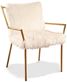 Chelsea Faux Fur Armchair, Quick Ship