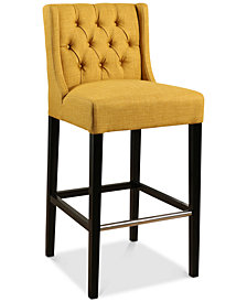 Viola Tufted Bar Stool, Quick Ship