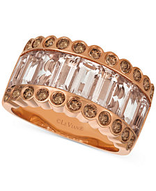 Le Vian Strawberry & Nude™ Peach Morganite™ (2-3/4 ct. t.w.) & Diamond (5/8 ct. t.w.) Ring in 14k Rose Gold