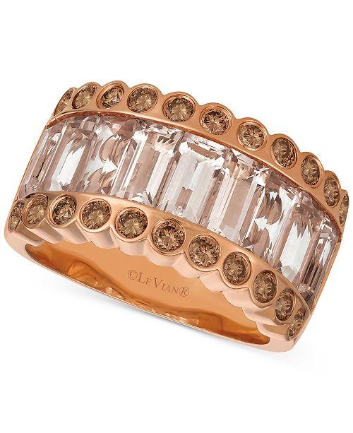Le Vian Strawberry & Nude™ Peach Morganite™ (2-3/4 ct. t.w.) & Diamond (5/8 ct. t.w.) Ring in 14k Rose Gold