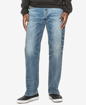 Silver Jeans Co. Men's Gordie Loose-Fit Straight Stretch Jeans 4945528