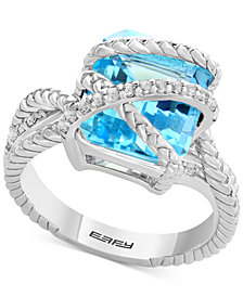 Balissima by EFFY® Sky Blue Topaz (7-3/8 ct. t.w.) & White Topaz (1/5 ct. t.w.) in Sterling Silver
