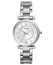 Fossil Women's Carlie Stainless Steel Bracelet Watch 35mm