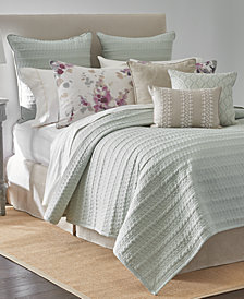 Sanderson Delphiniums Full/Queen Coverlet