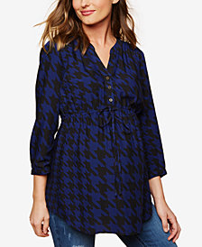 Motherhood Maternity Roll-Sleeve Blouse