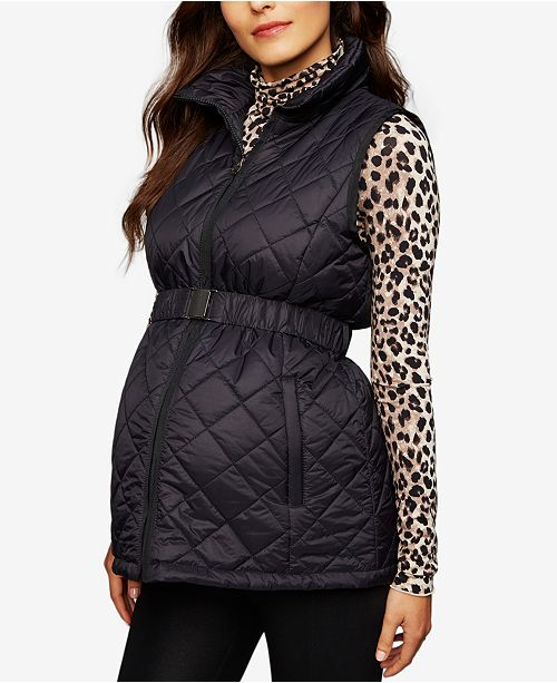 fa840688049d3 A Pea in the Pod Maternity Quilted Puffer Vest & Reviews - Maternity ...