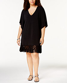Dotti Plus Size Beach Blossom Tunic Cover-Up